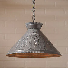Irvins Tinware Roosevelt Tin Country Kitchen Shade Light w/ Willow Pattern