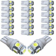 50Pcs Super White T10 Wedge 5-SMD 5050 LED Light bulbs W5W 2825 158 192 168 194