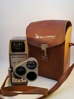 Vintage '50's Bell & Howell Working 333 Sunometer 8mm Movie Camera With Case