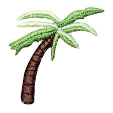ID 1727 Leaning Palm Tree Patch Tropical Beach Embroidered Iron On Applique