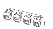 Ikea MORLIDEN GLASS DOOR CONNECTING SUPPORT BRACKETS GREY PLASTIC Part # 115912