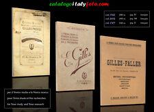 italyfoto   PDF catalogo catalogue  katalog  GILLES  FALLER  1889..1928 ca.