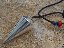 Metal en forma de Plata Plateado Cono Curativo Radiestesia Péndulo