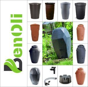 Regentonne KOMPLETTSET + Standfuss + Wasserhahn + Regensammler  große Auswahl