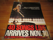 Promo Bruce Springsteen on Columbia Records, Cassettes & Cds Live 1975-85 Poster