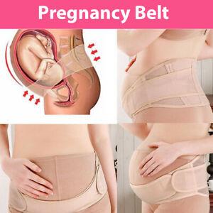 Adjustable Pregnancy Belly Band Breathable Maternity Belt Back Pelvic Support AU