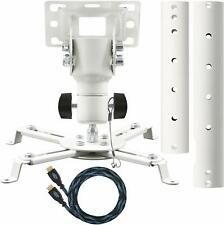 Cheetah Mounts APMEW Universal Projector Ceiling Mount with HDMI Cable included