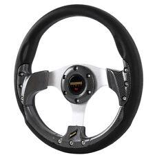 350mm Universel Racing Sport OMP Suede Plat Volant JDM Anneau Fibre Carbone