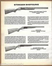 1991 STOEGER Condor I Over Under, Coach Gun, Uplander Side-by-Side SHOTGUN AD