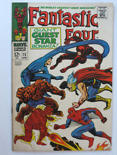 Fantastic Four # 73 us Marvel 1968 Spiderman Daredevil Thor Kirby FN +