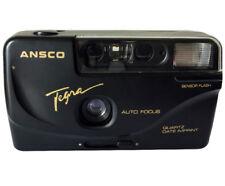 Ansco Tegra 35mm Film Camera Vintage Point & Shoot Flash Date/Time Imprint