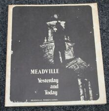 Vtg 1976 Book MEADVILLE YESTERDAY AND TODAY Pennsylvania