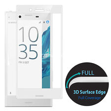 3D Curved Tempered Glass+Clear TPU Case Cover For Sony Xperia X XZ XA Ultra S001
