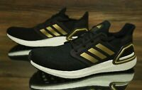 adidas Ultraboost 20 Black White Gold EE4393 Running Shoes Men's Multi Size NEW