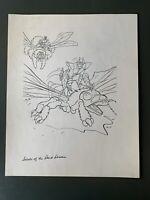 VTG 1985 SECTAURS: SECRETS OF THE DARK DOMAIN COLORING BOOK ORIGINAL ART PG 8