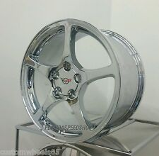 "Chrome C5 Style Corvette wheels For 1997-2004 C5  17x8.5/18x9.5"" SET"