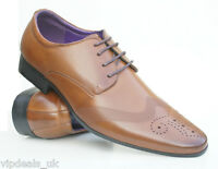 MENS BROGUE SHOES WEDDING FORMAL OFFICE WORK CASUAL PARTY DRESS SIZE