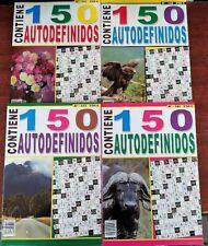 AUTODEFINIDOS.  ( Lote de 6 tomos de 100 paginas ) CON BOLIGRAFO DE REGALO