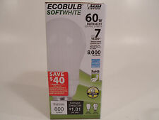 Ecobulb Light Bulb Soft White 15W 60 Watt Equvalent CFL Inside Enery Saving