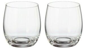 2 x Bohemia TITANIUM LEAD FREE Crystal RED WINE glasses TUMBLERS MERGUS 410ml