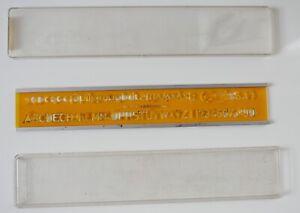 Trace lettres / normographe Rotring—8 mm—Boîte d'origine—Bords amovibles—'60