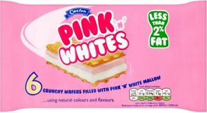 Caxton Pink 'N' Whites Wafers 10 Packs Of 85g