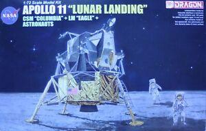"DRAGON #11002 - APOLLO 11 ""LUNAR LANDING"", 1:72 MODEL KIT, 2011 - FIRST ISSUE"