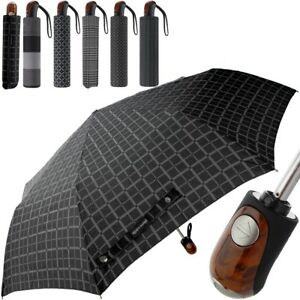 PIERRE CARDIN Herren Schirm verschiedene Stoffmuster Regenschirm Taschenschirm