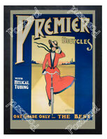 Historic Premier Bicycles Advertising Postcard