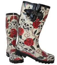 Pull On Textile Multi-Coloured Boots for Women