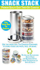 Snack Stack (Easy Twist-off Snack Stacker with Fresh-seal Container)