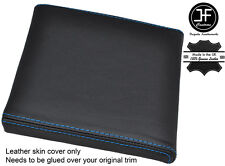 BLUE STITCH CONSOLE CUBBY BOX LID LEATHER COVER FITS RANGE ROVER P38 1994-2002