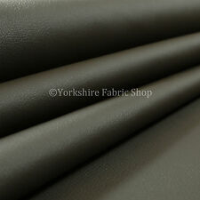 10 Metres Of Heavy Duty Matt Finish Soft New Grey Faux Leather Upholstery Fabric