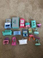 LPS Littlest Pet Shop MLP My Little Pony Furniture Lot Bundle for Toys and Dolls