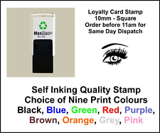 Loyalty Card Stamp Kiss Smiley Professional Quality Self Inking 10mm FREE POST