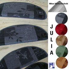 MITEX Treppenmatte Stufenmatte JULIA 65x23 halbrund Metallwinkel ! Treppe NEU
