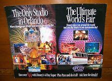 Authentic Disney Epcot MGM Park 4-Day Super Plus Pass Ticket Advertisement Sign