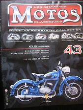 FASCICLE 43 MOTORCYCLES CLASSIC ADLER MB 200 1954