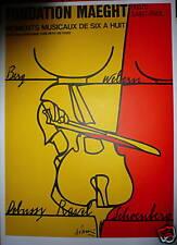 ADAMI Valerio Affiche Lithographie musique orchestre six à huit saint paul