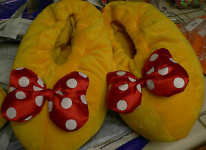 MiNNiE MoUsE~Adult~S~M~L~SLIPPERS~Costume~Polka Dot~Shoes~Disney Parks Authentic