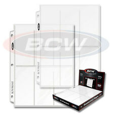 50 BCW Pro 6-Pocket Tall / Widevision Trading Card Pages coupon binder sheets