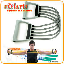 Large Resistance Tube Chest Expander 5 Removable Tubes for Fitness Home Exercise