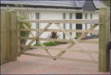 12FT WOODEN SOMERFIELD FIVE BAR FIELD GATE Right Hung