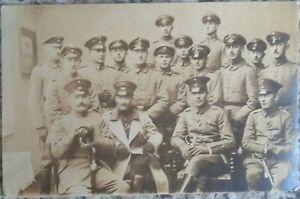 WW1 GERMAN SOLDIERS Officers Swords Real Photo PC Feldpost Volmarstein Dec 1915