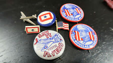 WWII US Home Front Pin Button Lot Airplanes Overseas MacArthur