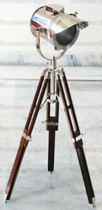 STUDIO TABLE LAMP VINTAGE SPOT LIGHT SEARCHLIGHT WITH TRIPOD STAND HOME DECOR
