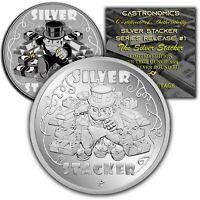 Silver Stacker BU 1 oz .999 Fine Silver Coin Serialized W/COA PRE-SALE #'S 41-46