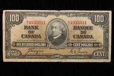 1937 Canada. ($100) One Hundred Dollars. Series B/J. Coyne-Towers.