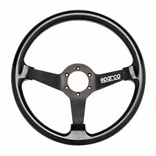 Sparco Drifting/Drift High Silicone Grip 350mm Steering Wheel 76mm Dish In Black