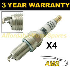4X doppio Iridium Spark Plugs per FIAT GRANDE PUNTO 1.4 Natural Power 2008 -